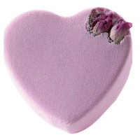 Sare de baie efervescenta Pink Rosebud Heart, Bomb Cosmetics 120 g