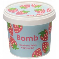 Exfoliant Vegan pentru corp Strawberry Fields Bomb Cosmetics, 365ml