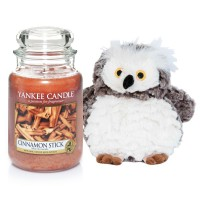 "Set Lumanare Parfumata Borcan Mare Cinnamon Stick & Bufnita ""Buha"", Yankee Candle"