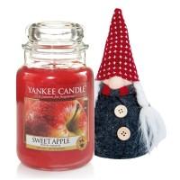 Lumanare Parfumata Borcan Mare Sweet Apple & Gnom Decorativ, Yankee Candle