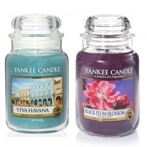 Set 2 lumanari Parfumate Borcan Mare: Viva Havana & Black Plum, Yankee Candle