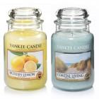Set 2 Lumanari Parfumate Borcan Mare: Coastal Living & Sicilian Lemon, Yankee Candle
