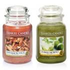Set 2 Lumanari Parfumate Borcan Mare: Cuban Mojito & Cinnamon Stick, Yankee Candle