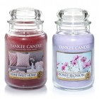 Set 2 Lumanari Parfumate Borcan Mare: Home Sweet Home & Honey Blossom, Yankee Candle