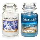 Set 2 Lumanari Parfumate Borcan Mare: Midnight Jasmine & Turquoise Sky, Yankee Candle