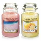 Set 2 Lumanari Parfumate Borcan Mare: Pink Sands & Sicilian Lemon, Yankee Candle