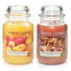 Set 2 Lumanari Parfumate Borcan Mare: Cinnamon Stick & Mango Peach Salsa, Yankee Candle