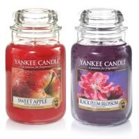 EDITIE LIMITATA - Set 2 Lumanari Parfumate Borcan Mare: Black Plum Blossom & Sweet Apple, Yankee Candle