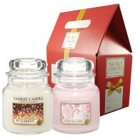 Set Winter Gift - All is Bright & Snowflake Cookie, Yankee Candle