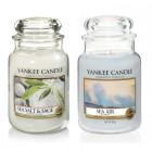 Set 2 lumanari Parfumate Borcan Mare Sea Air + Sea Salt & Sage, Yankee Candle