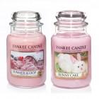 Set 2 lumanari Parfumate Borcan Mare Summer Scoop & Bunny Cake, Yankee Candle