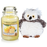 "Set Lumanare Parfumata Borcan Mare Sicilian Lemon & Bufnita ""Buha"", Yankee Candle"