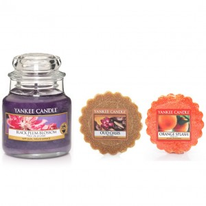 Set Lumanare Parfumata Borcan Mic Black Plum Blossom +2 Tarte Parfumate, Yankee Candle