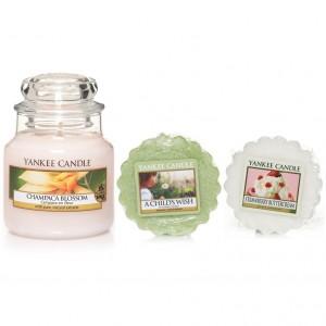 Set Lumanare Parfumata Borcan Mic Champaca Blossom +2 Tarte Parfumate, Yankee Candle