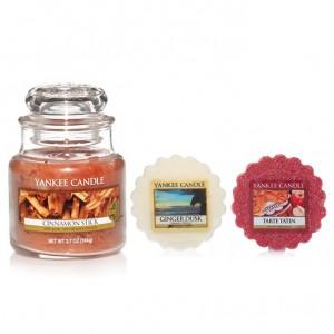 Set Lumanare Parfumata Borcan Mic Cinnamon Stick +2 Tarte Parfumate, Yankee Candle