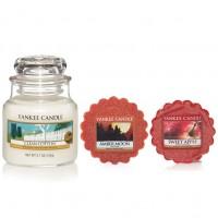 Set Lumanare Parfumata Borcan Mic Clean Cotton +2 Tarte Parfumate, Yankee Candle