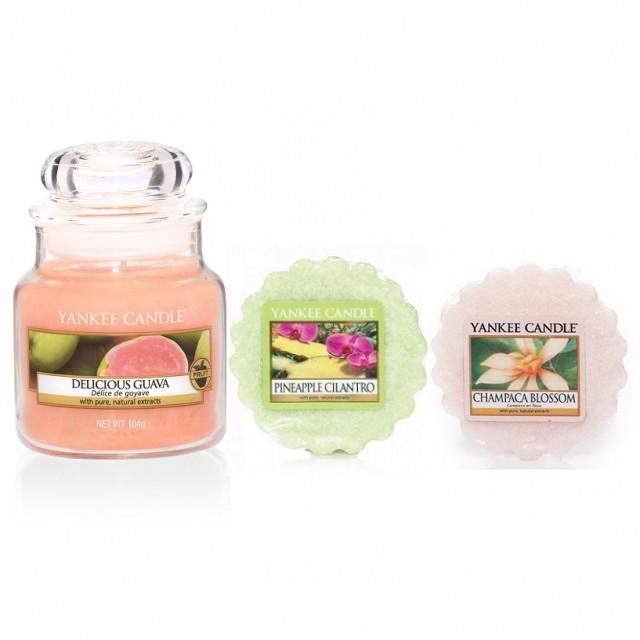 Set Lumanare Parfumata Borcan Mic Delicious Guava +2 Tarte Parfumate, Yankee Candle