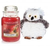 "Set Lumanare Parfumata Borcan Mare Sweet Apple & Bufnita ""Buha"", Yankee Candle"