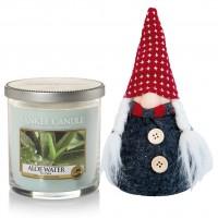 Set Lumanare Parfumata Pahar Mic Aloe Water & Decoratiune Gnom, Yankee Candle