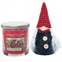 Set Lumanare Parfumata Pahar Mic Red Raspberry & Decoratiune Gnom, Yankee Candle