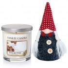 Set Lumanare Parfumata Pahar Mic Shea Butter & Decoratiune Gnom, Yankee Candle