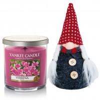 Set Lumanare Parfumata Pahar Mic Verbena & Decoratiune Gnom, Yankee Candle