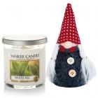 Set Lumanare Parfumata Pahar Mic White Tea & Decoratiune Gnom, Yankee Candle