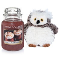 "Set Lumanare Parfumata Borcan Mare Vanilla Bourbon & Bufnita ""Buha"", Yankee Candle"
