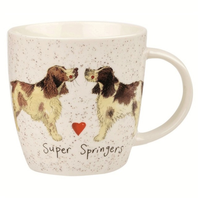 "Cana din portelan Alex Clark Delightful Dogs ""Super Springers"" 400ml, Churchill"