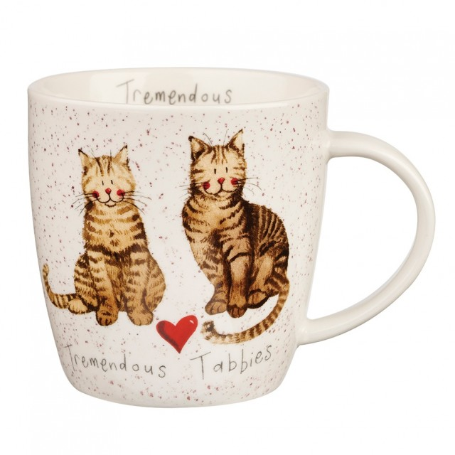 "Cana din portelan Alex Clark Charismatic Cats ""Tremendous Tabbies"" 400ml, Churchill"