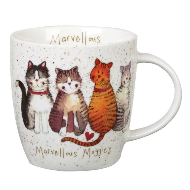 "Cana din portelan Alex Clark Charismatic Cats ""Marvellous Moggies"" 400ml, Churchill"