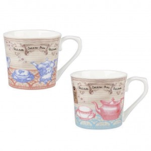 "Set 2 cani Patter Repeat ""Tea Chest"" 287ml, Churchill"