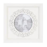 "Rama foto ""White Circle"" 10*10 cm, Clayre & Eef"