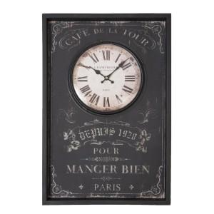 """Ceas """"Cafe de la Tour, Paris"""" 40*5*60 cm, Clayre & Eef"""