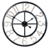 Ceas de perete Black & White 60*5*60 cm, Clayre & Eef