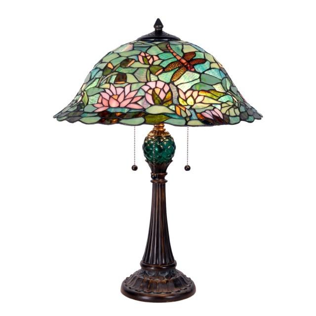 Veioza Tiffany, 47x60 cm, 3 x E27 / Max 60W, Clayre & Eef