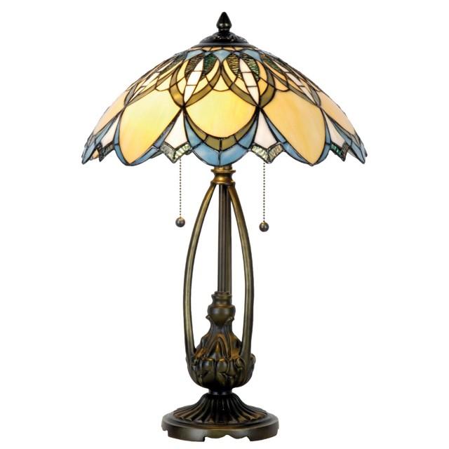 Veioza Tiffany, 40x60 cm, 2 x E27 / Max 60W, Clayre & Eef