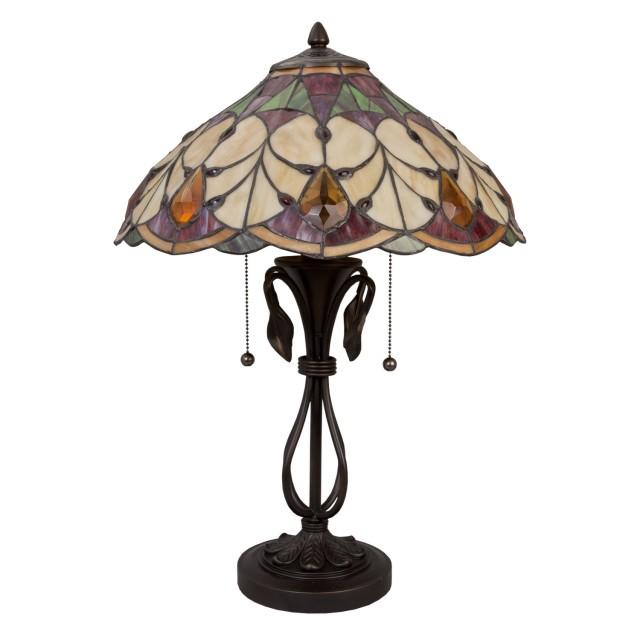 Lampa Tiffany, 51x58 cm, 2x E27 / Max. 60W, Clayre & Eef