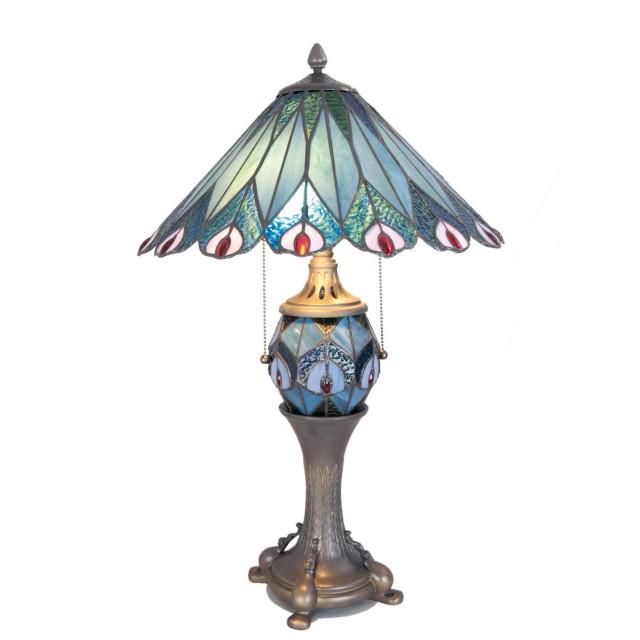 Lampa Tiffany, 40x65 cm, E27/Max 60 W / E14/Max 7 W, Clayre & Eef