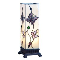 Veioza Tiffany, 12.5x35 cm, 1 x E27 / Max 25W, Clayre & Eef