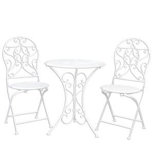 Set mobilier gradina/terasa, masuta si 2 scaune, French Style, Clayre & Eef