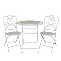 Set masa cu doua scaune pentru terasa, Clayre & Eef