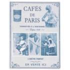 """Magnet """"Cafés de Paris"""", Clayre & Eef"""