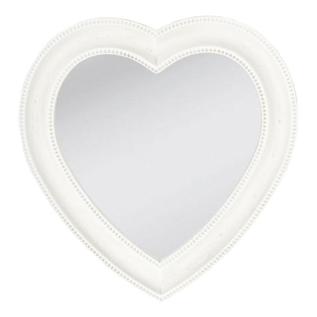 "Oglinda decorativa ""White Heart"", Clayre & Eef"