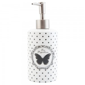 "Dispenser sapun ""Black Butterfly"", Clayre & Eef"