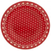 Farfurie Red & White 21cm, Clayre & Eef
