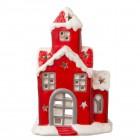 "Suport lumanare Tea/light ""Santa's Home"", Clayre & Eef"