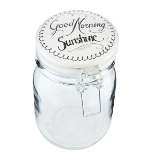 "Borcan pentru depozitare ""Good Morning Sunshine"" 1 L, Clayre & Eef"