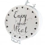 "Borcan pentru depozitare ""Enjoy Your Meal"" 700 ml, Clayre & Eef"
