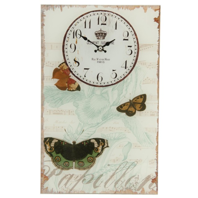 """Ceas """"Butterflies""""  25*4*40 cm, Clayre & Eef"""